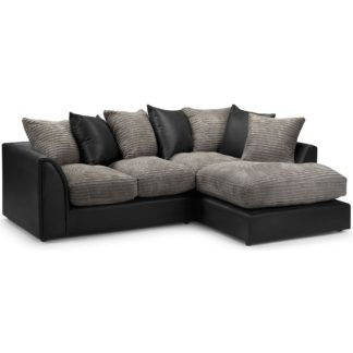 An Image of Byron Right Hand Corner Sofa Brown