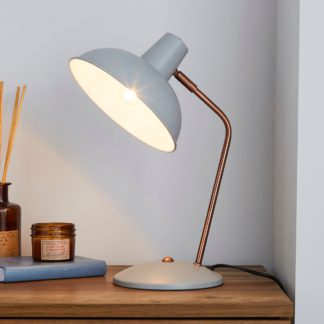 An Image of Leiden Grey Desk Lamp Grey