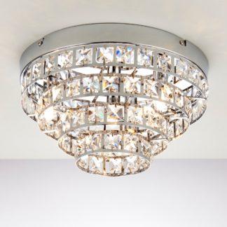An Image of Endon Motown 4 Light Flush Ceiling Fitting Chrome