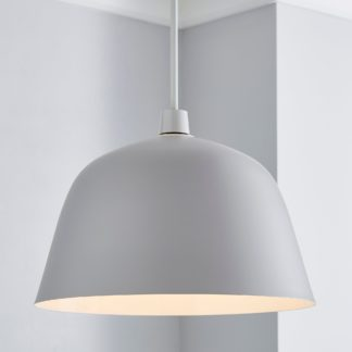 An Image of Alba Easy Fit Pendant Grey