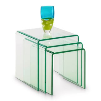 An Image of Amalfi Glass Nest of Tables Clear
