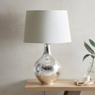 An Image of Dorma Purity Usha Mercury Glass Table Lamp Chrome