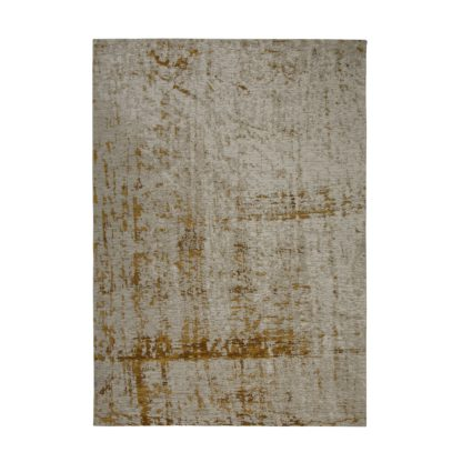 An Image of Carter Rug Yellow and Brown