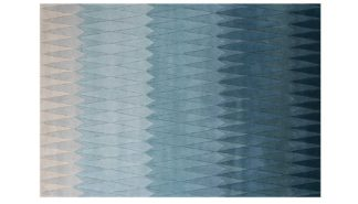 An Image of Linie Design Acacia Rug in Blue 240 x 170 cm