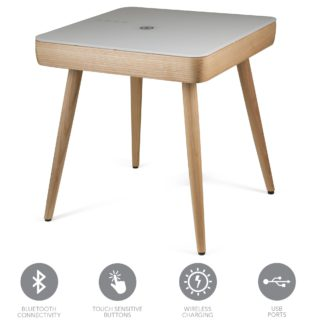 An Image of Carl Smart Side Table Brown and Grey