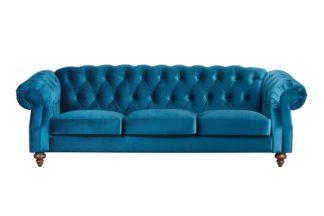 An Image of Buster 3 seat sofa Genova Peacock