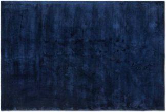 An Image of Merkoya Luxury Viscose Rug, Large 160 x 230cm, Midnight Blue