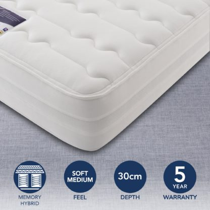 An Image of Silentnight 2000 Pocket Memory Mattress White