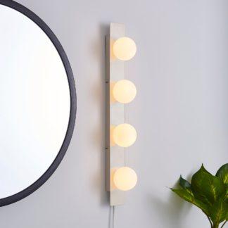 An Image of Coco Hollywood Mirror Light Matt Grey & White Matt Grey