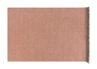 An Image of Gandia Blasco Garden Layers Rug Diagonal Almond Peach