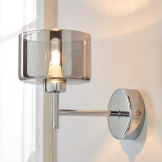 An Image of Elsie Wall Light Chrome Silver