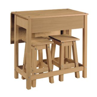 An Image of Corona Drop Leaf Table Dining Set Natural