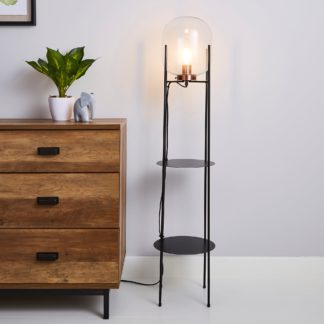 An Image of Dayo Floor Lamp Clear Black