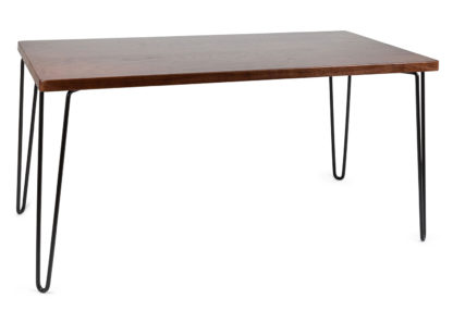 An Image of Heal's Brunel Dining Table Dark Wood