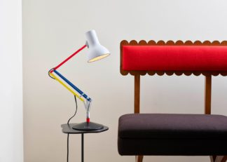 An Image of Anglepoise Type 75 Mini Desk Lamp Paul Smith Edition Three