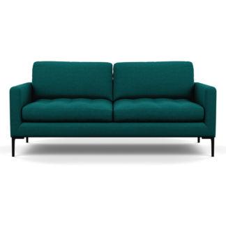 An Image of Heal's Eton 3 Seater Sofa Brushed Cotton Pine Black Feet