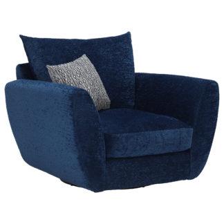An Image of Big Blue Swivel Chair