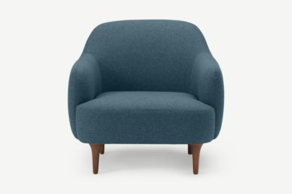 An Image of Lupo Snuggler Armchair, Orleans Blue