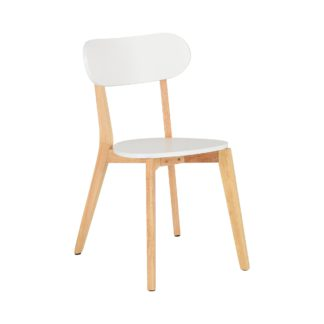 An Image of Julius Set of 2 Dining Chairs White
