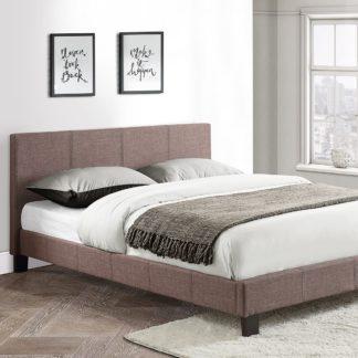 An Image of Berlin Upholstered Bed Frame Grey