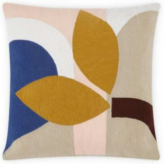 An Image of Lanua Embroidered Cushion, 45 x 45cm, Pink Multi