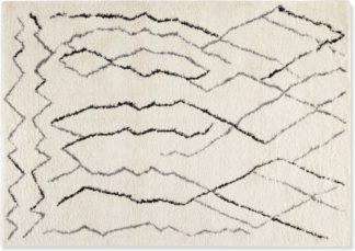 An Image of Cecily Pile Rug, Extra Large 200 x 290cm, Off White & Grey