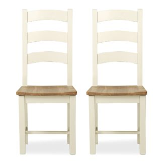 An Image of Wilby Set of 2 Dining Chairs Cream Cream