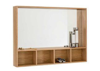 An Image of Case Arca Wall Box Oak Small