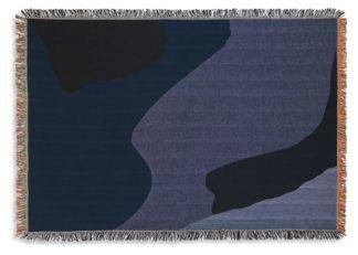 An Image of ferm LIVING Vista Throw Dark Blue
