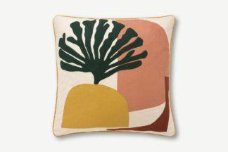An Image of Onadowan Embroidered Printed Cushion, 50 x 50cm, Multi