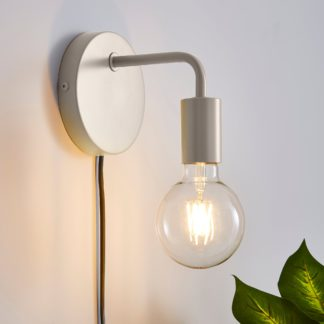 An Image of Grey Koppla Plug-in Wall Light Black