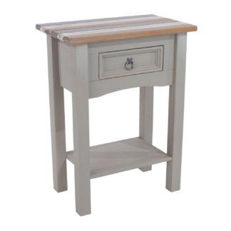 An Image of Corona Vintage 1 Drawer Hall Table Grey