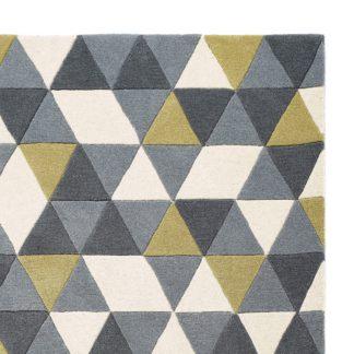 An Image of Honeycomb Geo Rug Grey/Multi-Coloured/Yellow