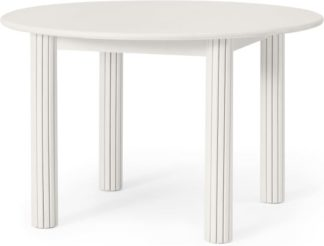 An Image of Tambo 4 Seat Round Dining Table, Ivory Stained Oak