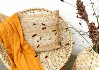 An Image of Original Home Jute Braided Cushion Natural 50 x 50cm