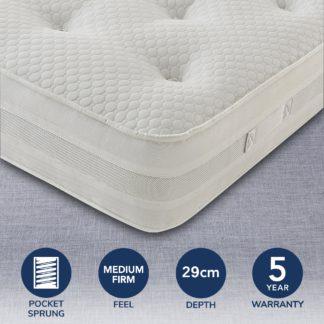An Image of Silentnight 1200 Pocket Mattress White