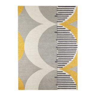 An Image of Elements Ochre Shield Wool Rug Ochre