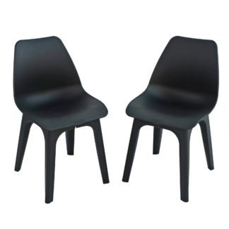 An Image of Eolo Pack of 2 Matte Chairs Grey
