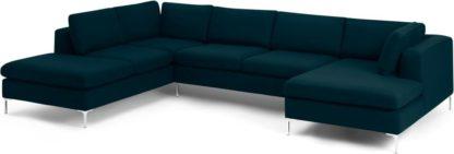 An Image of Monterosso Left Hand Facing Corner Sofa, Elite Teal