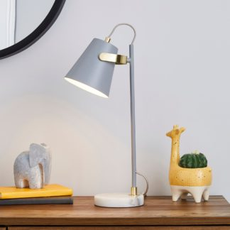 An Image of Karter Marble Base Table Lamp Grey