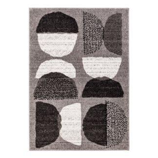 An Image of Elements Grey Alton Geometric Rug Grey