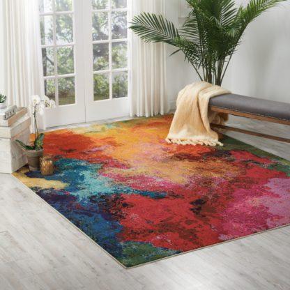 An Image of Multi Coloured Celestial Palette Rug Multi-Coloured