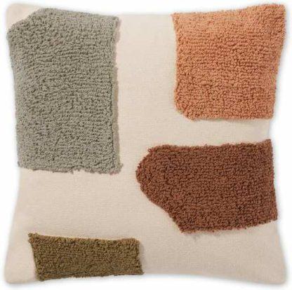An Image of Mosie Tufted Cotton Cushionm 45 x 45cm, Tonal Terracotta