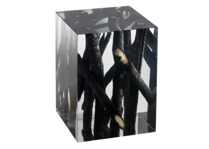 An Image of Timothy Oulton Spur Side Table Small Burntwood