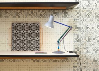 An Image of Anglepoise Type 75 Mini Desk Lamp Paul Smith Edition Two
