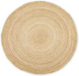 An Image of Enzo Round Jute Rug 150cm diameter, Plain