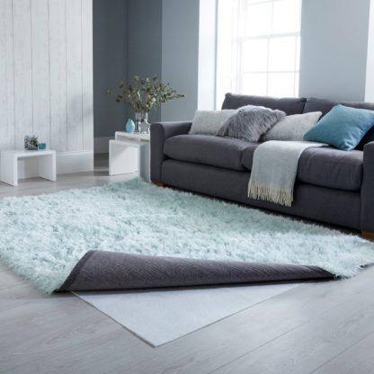 An Image of Rug Anti-Slip Mat White