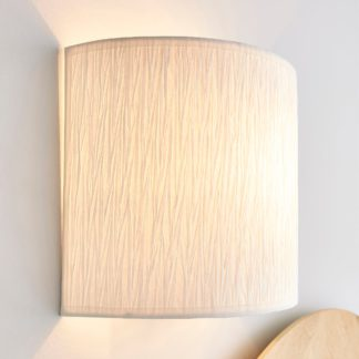 An Image of Taora Paper Ivory Shade Wall Light Cream