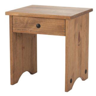An Image of Corona Pine Dressing Table Stool Natural