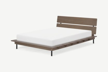 An Image of Ami Double Bed, Dark Stain Pine